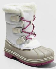 Girls' Kit Winter Boots - Cat & Jack White - CHOOSE SIZE