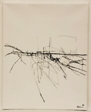 No.838 Original Abstract Minimal Modern Landscape Drawing By K.A.Davis
