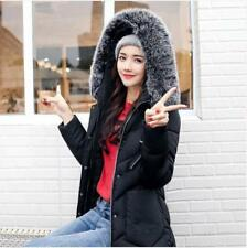 New Women's Winter Slim hooded Long Padded jacket Cotton jacket Coat Parka Size