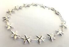New 925 Sterling Silver STARFISH Link Bracelet Retails $109.99 Ocean Sea Life