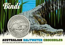 Bindi 2013 Salzwasser Krokodil (1) 1A$ Australien 1 Unze Silber Blister BU