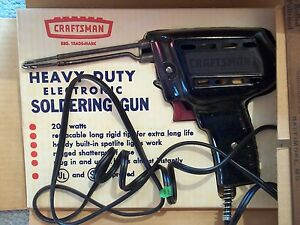 TOOL CRAFTSMAN HEAVY DUTY ELECTRONIC SOLDERING GUN NO. 5878 IN ORIGINAL BOX VINT