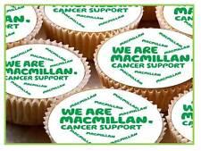24 X 40mm Taza de hadas de soporte de cáncer de logotipo Macmillan Cake Toppers Comestibles Papel De Arroz