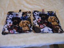 New listing Pot Holders Set of 2 Puppy Pot Holders