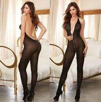 women BODYSTOCKING Babydoll Sexy Lingerie Underwear Nightwear Catsuit erotic9108