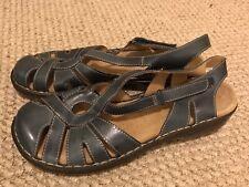 Clarks 80385 Active Air Blue Leather Fisherman sandals Women's 8.5 M