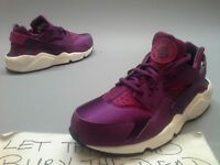 New Wmns Nike Huarache Run Print Mulberry 725076-500 Maroon Burgundy White