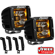 Rigid Radiance Pod Amber Back Light Fog Light for 99-16 Ford F250 F350 Excursion