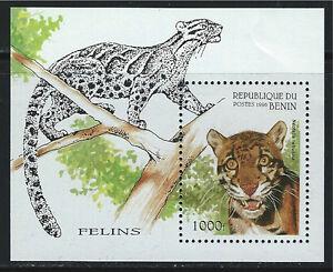 Benin Souv.Sheet Panthers MNH 1986