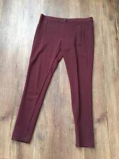 ZARA Women's Pants with zips(Burgundy, US L/EUR L)