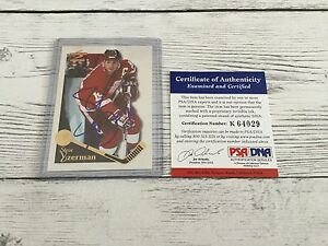 Steve Yzerman Signed Detroit Red Wings Hockey Card PSA DNA COA Autographed a