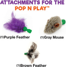 Allstar Innovations Use with The Pop N Play; 3 Replacement Cat Toy Attachments;