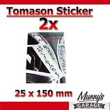 2xl TOMASON SCHWARZ - 25x150mm Aufkleber, Sticker, Decal, Étiquette Autocollant