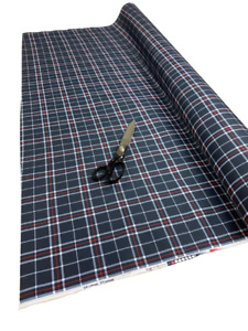 BLUE CHECKS HEAVY DUTY Waterproof Fabric Outdoor Cover Sold By Metre canvas