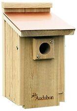 Cedar Blue Bird House Copper Roof National Audubon Society Nesting Back Yard