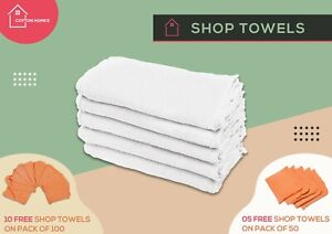 """Shop Towel Cleaning Rags 100% Cotton Cloth 12""""x14""""  50&100 Pack -By Cotton Homes"""