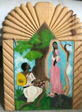 Our Lady of Guadalupe & Juan Diego atop Tepeyac Hill - Pueblo Folk Art - Signed