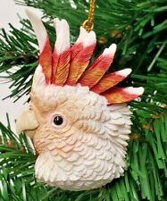 "Bird Head Cockatoo Christmas Ornament 3"" Slavic Treasures"