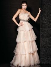 Jovani Prom Dress Party Evening Long Formal  Cocktail Sexy Color Ivory  Size 4