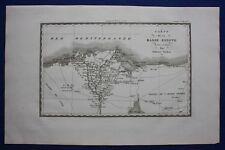 Original antique map LOWER EGYPT, NILE DELTA, Napoleonic Wars, Tardieu c1824