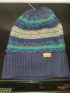 Kangol Evolve Cuff Beanie Hip Hop Winter Hat Old School Blue NWT