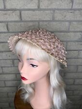 Vintage Ladies 1950s/60s Champagne Cocktail/Church Hat With Straw And Horsehair