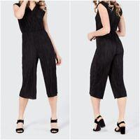 New SELECT Ladies Wrap Culotte Jumpsuit BLACK Size 6-18