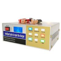 Totalmente Automatico Inteligente 12V / 24V 100Ah Cargador De Bateria De Coc 3E5