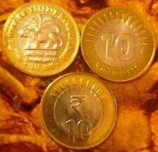 India-republic 10 Rupees, 2010, RBI, 75th Anniversary INFO TECH & SUN RAYS 3 CO
