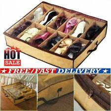 12 Pairs Shoes Storage Organizer Holder Container Under New Box Closet Bed U4C9