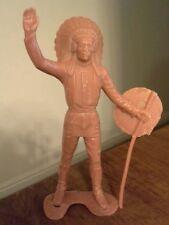 """Vintage Louis Marx 6"""" Plastic Indian Chief Figure"""
