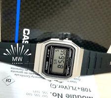 CASIO F91WM-7A DIGITAL BLACK RESIN Classic Sports Alarm Chronograph WATCH NEW