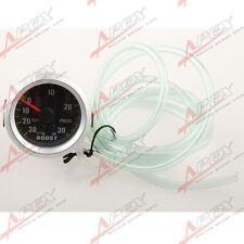 52mm 2'' Car Motor 30 PSI Pressure Vacuum Turbo Boost Pointer Gauge Meter Light
