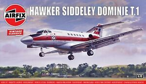"""New Airfix 1:72nd Scale """"Vintage Classics"""" Hawker Siddley Dominie T.1 Model Kit."""