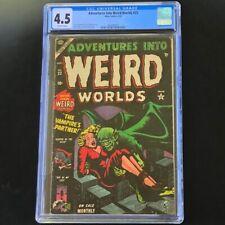 Adventures Into Weird Worlds #22 (Atlas 1953) 💥 CGC 4.5 OW 💥 Bill Everett Cvr!