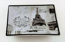 Paris Stamps Soap Dish - Black / White