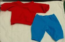 "Cabbage Patch Kids Red Sweatshirt and Blue Pants for 16"" Doll"