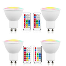 GU10 LED Bulbs Dimmable Color Changing Spot Light Bulb with Remote RGB Memory 3W