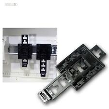 Hutschienen-Halter universell, Kunststoff schwarz, für DIN-Schienen, Halterung