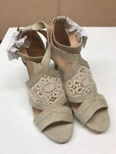 Nanette Lepore Womens Bliss Open Toe Casual Ankle Strap, Natural, Size 8.5