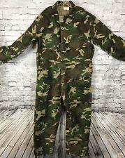 Ranger Men's Vintage Camo Coverall One Piece Suit Pants Jacket Hunting Sz XL