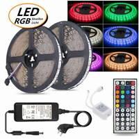 1M -30M LED Streifen Licht 5050 SMD RGB Stripe Weiß PCB Lichtband Wasserdicht
