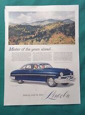 1951 Lot Automobile Magazine Ads ~ Lincoln