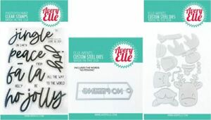 Avery Elle Stamp & 2 Die Combo ~ JINGLE & PEEK-A-BOO TAG/TOPPERS -20-26,9-9,9-10