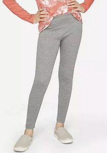 Nwt Girls Justice Warm Cozy Fleece Lined Leggings Gray Size 6/7