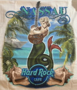 Hard Rock Cafe NASSAU 2019 City Tee White T-SHIRT XL Men's SEXY MERMAID New Tags