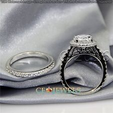 Finest 1.71CT Off White Yellow Round Moissanite Ring 925 Silver Wedding Ring G00