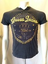 GUESS Short Sleeve V Neck Boys Blue Casual T Shirt Size Large (16-18)