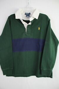POLO RALPH LAUREN Boy's Long Sleeve Cotton Rugby Polo Shirt size 7