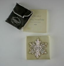 Gorham Silver Snowflake-1974 Christmas Ornament(s) with Box Sterling Ex!